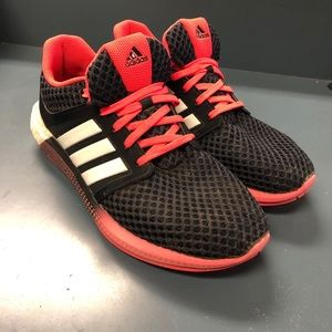 Adidas Boost in black and hot pink